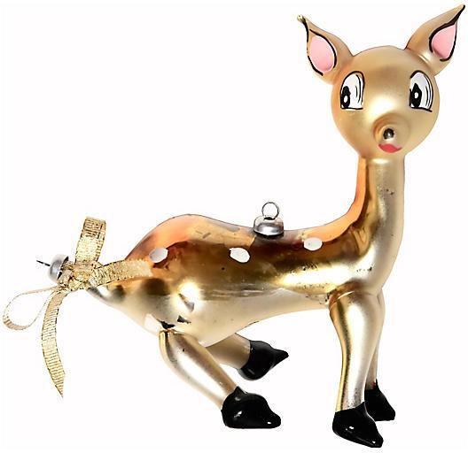 One Kings Lane Vintage Italian Glass Deer Ornament - Portfolio No.6