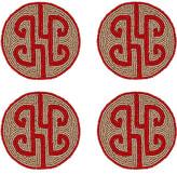 Joanna Buchanan Set of 4 Chinoiserie Coasters - Ruby