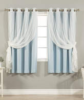 Best Home Fashion Navy Sheer & Blackout Curtain Panel Set