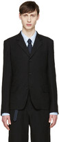 Yohji Yamamoto Black Linen Blazer