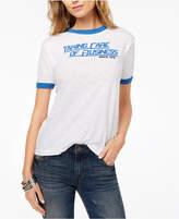 Kid Dangerous Cotton Retro Graphic Ringer T-Shirt