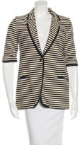 Elizabeth and James Striped Short Sleeve Blazer