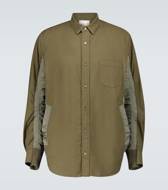 Sacai Contrast paneled overshirt