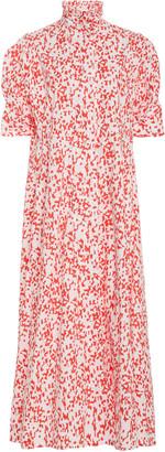 Thierry Colson Venetia Floral-Print Cotton Midi Dress