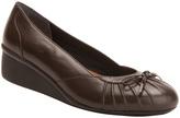 Ros Hommerson Dark Brown Ella Leather Wedge