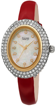 Burgi Women's Patent Leather Watch