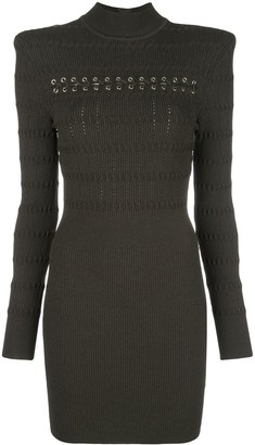 Balmain Rushed Knitted Dress