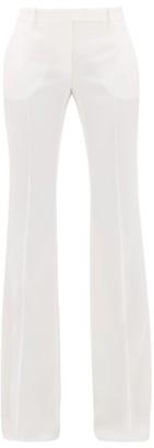 Alexander McQueen Flared Virgin Wool Trousers - Ivory