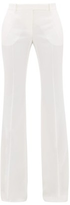 Alexander McQueen Flared Virgin Wool Trousers - Womens - Ivory