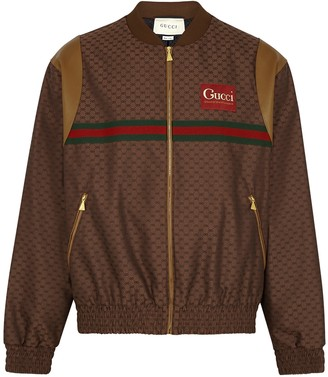 Gucci Brown GG-jacquard bomber jacket
