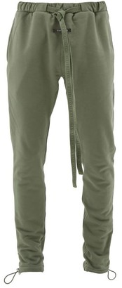 Fear Of God Classic Cotton-jersey Track Pants - Mens - Green