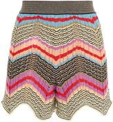 Thumbnail for your product : M Missoni Scalloped Crochet-knit Cotton-blend Shorts