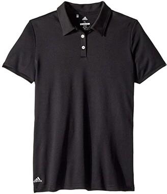 adidas Golf Kids Performance Short Sleeve Polo (Big Kids) (White) Girl's Clothing