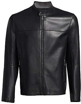 Saks Fifth Avenue Men's MODERN Bonded Leather Jacket