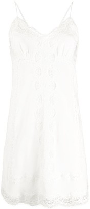 Ermanno Scervino Lace Trim Silk Dress