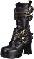 Demonia Pleaser Women's Gothika-100 Boot,Black Polyurethane,8 M US