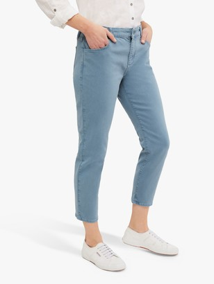 White Stuff Straight Cropped Jeans, Light Aqua