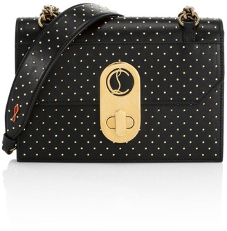 Christian Louboutin Small Elisa Studded Leather Shoulder Bag