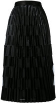 Off-White sheer pleated skirt - women - Polyester/Triacetate - M