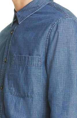 A.P.C. Georges Ripstop Denim Button-Up Shirt