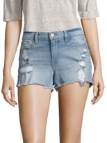 Frame Le Cut-Off Distressed Denim Shorts