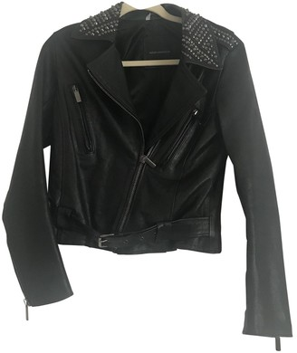 Nour Hammour \N Black Leather Jacket for Women