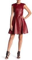 Gracia Faux Leather Pleat Dress