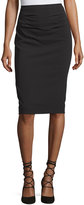 BCBGMAXAZRIA Ruched Pencil Skirt, Black