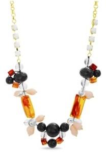 Catherine Malandrino Women's Retro Style Beaded Chain Necklace