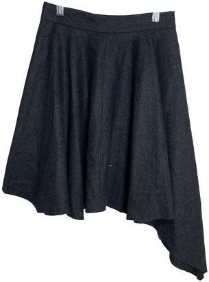 Dagmar Grey Wool Skirt for Women
