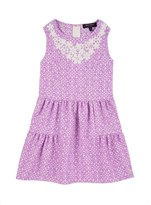 Juicy Couture Girls Soft Woven Jacquard Dress