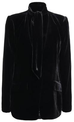 Frame Tie-neck Velvet Blazer