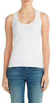 J Brand Broadway Rib Neck Tank in White
