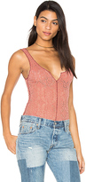 Free People Grmt Dye Pucker Lace Notch Cami in Rust. - size L (also in )