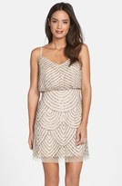 Adrianna Papell Sequin Mesh Blouson Dress