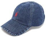 Polo Ralph Lauren - Logo Embroidered Denim Baseball Cap - Mens - Blue
