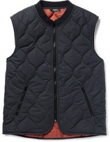 A.P.C. Bern Quilted Shell Gilet