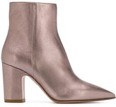RED Valentino metallic pointed toe 80mm boots