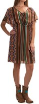 Stetson Aztec Serape Chiffon Dress - Short Sleeve (For Women)