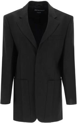 Jacquemus LA VESTE D'HOMME BLAZER 32 Black Wool
