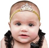 Gillberry Crown hair band Princess Baby Girl Crystal Pearl Crown Hairband