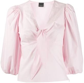 Pinko tie-detail V-neck blouse