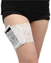 MISMXC Womens Lace Non-slip Thigh Garter Purse Phone Security Pockets