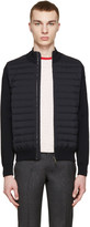 Moncler Navy Quilted Panel Jacket