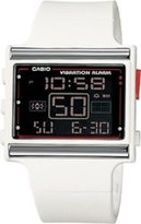 Casio Women's Vibration Alarm LDF10-7A White Resin Quartz Watch with Dial