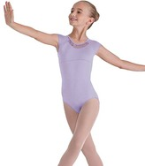 Bloch Lilac Rouleaux-Back Leotard - Toddler & Girls
