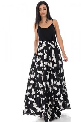 AIMELIA Tye dye full circle maxi skirt