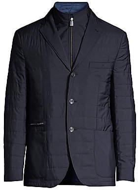 Corneliani Men's Miltedstone Quilted Blazer