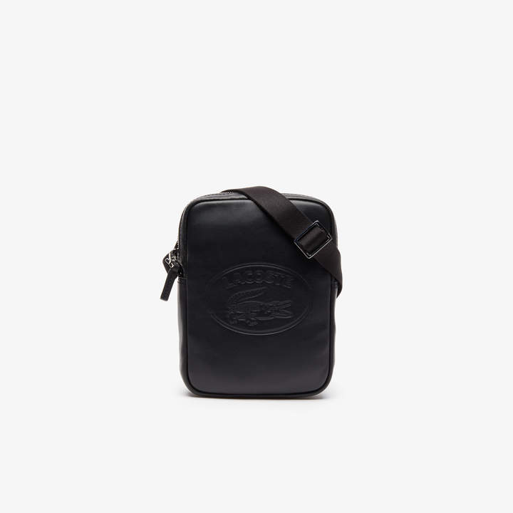 d2e6816a63 Men's L.12.12 Casual Embossed Lettering Vertical Leather Bag