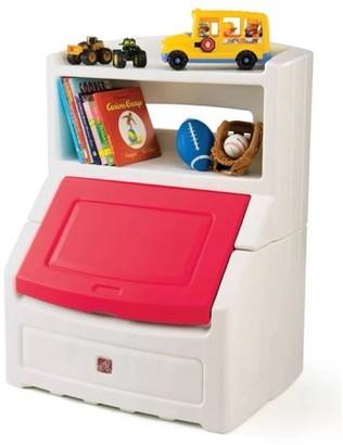 "Step2 Lift & Hide 38""H Kids Plastic Storage Bin and Toy Organizer, Blue"